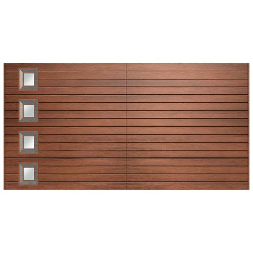 Van Acht Marine Ply Garage Door double horizontal no 9 lh crv