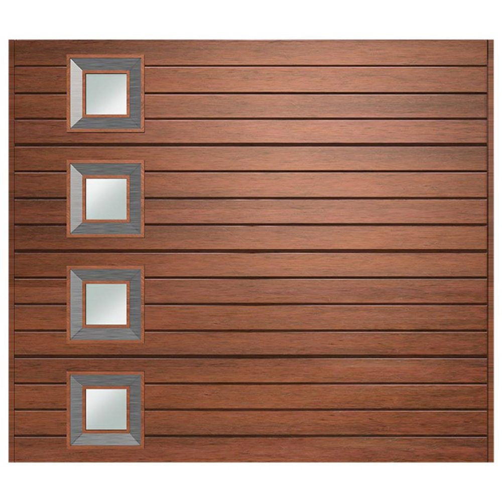 Van Acht Marine Ply Garage Door single horizontal no 9 lh