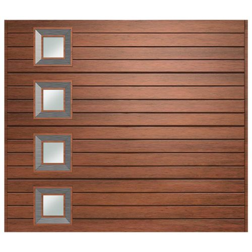 Van Acht Marine Ply Garage Door single horizontal no 9 lh