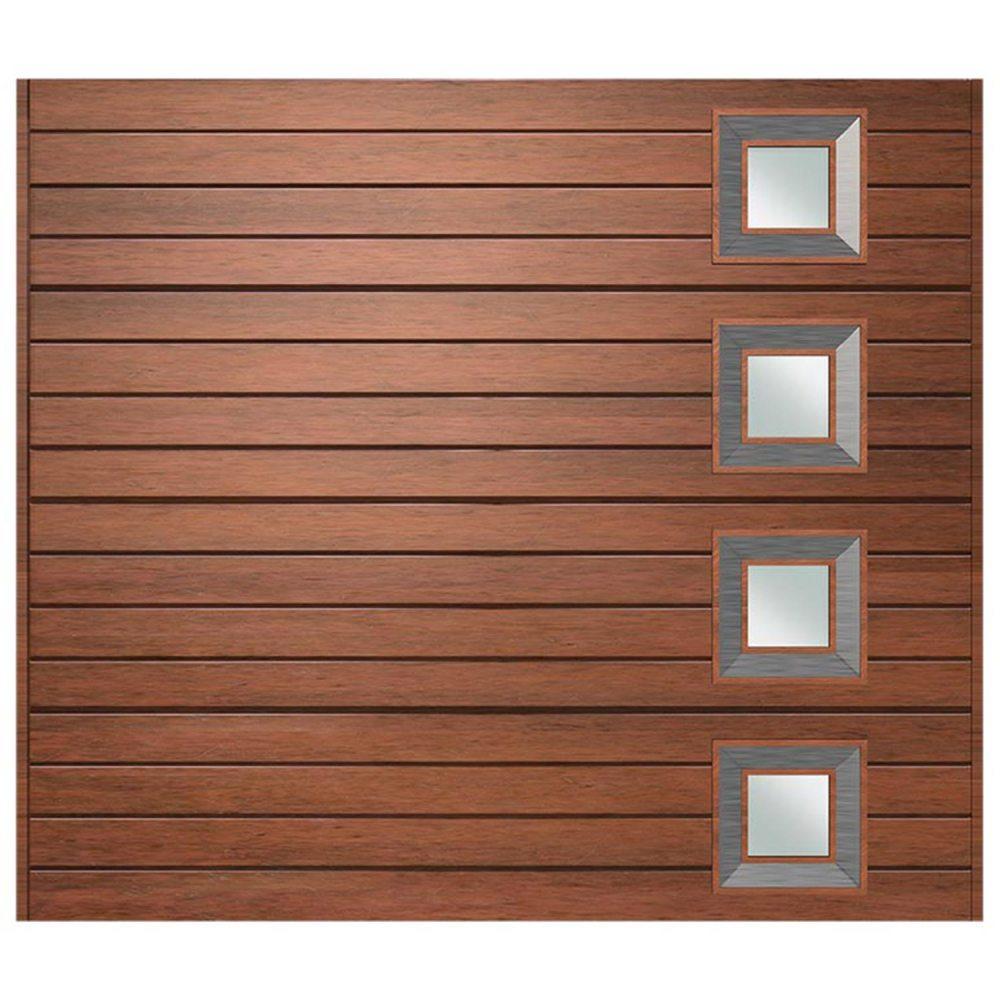 Van Acht Marine Ply Garage Door single horizontal no 9 rh
