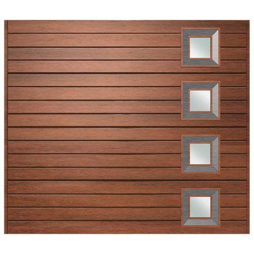 Van Acht Marine Ply Garage Door single horizontal no 9 rh