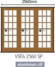 Wood Folding Door - VSFA 2560 SP