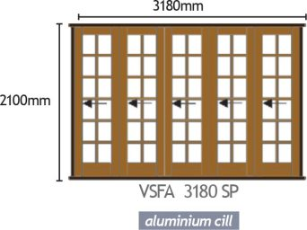 Wood Folding Door - VSFA 3380 SP