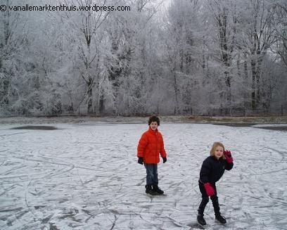 Schaatsen op de eerste wintersedag
