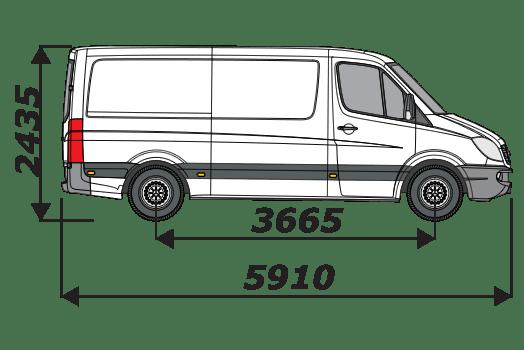 MERCEDES SPRINTER 2006-2018 L2 H1 TWIN DOOR VAN ROOF RACKS