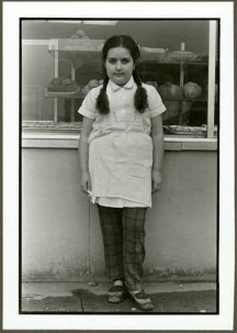 "VPL 88673 ""Portrait of a girl outside a bakery"". Nina Raginsky. 1972."