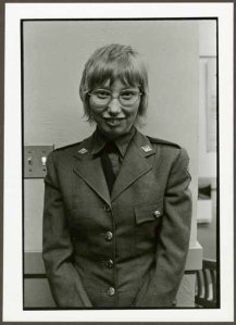 """VPL 88676 """"Portrait of a woman wearing a uniform"""". Nina Raginsky. 1972."""