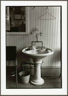 "VPL 88678 ""Pedestal sink and pail in work environment"". Nina Raginsky. 1972."
