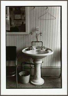 "VPL 88678 ""Pedestal sink and pail in work environment"". Nina Raginsky. 1972."