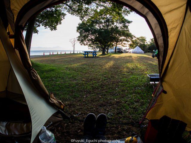 テント内からの景色 (Canon EOS6D + SIGMA 15mm F2.8 EX FISHEYE)