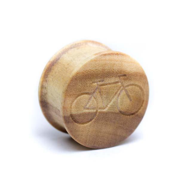 Holz Plug Fahrrad Olivenholz - van branch - Front