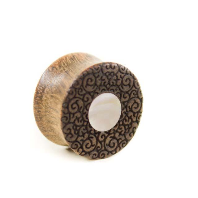 Holzplug Chechen mit Perlmutt - van branch - Paaransicht