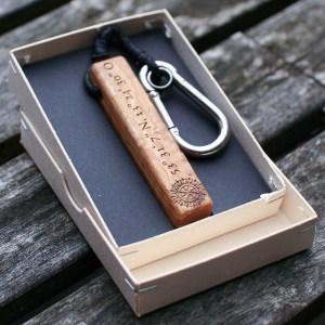 Schlüsselanhänger Olivenholz – van branch