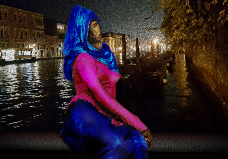 Gothic Beauty in Venice by Night
