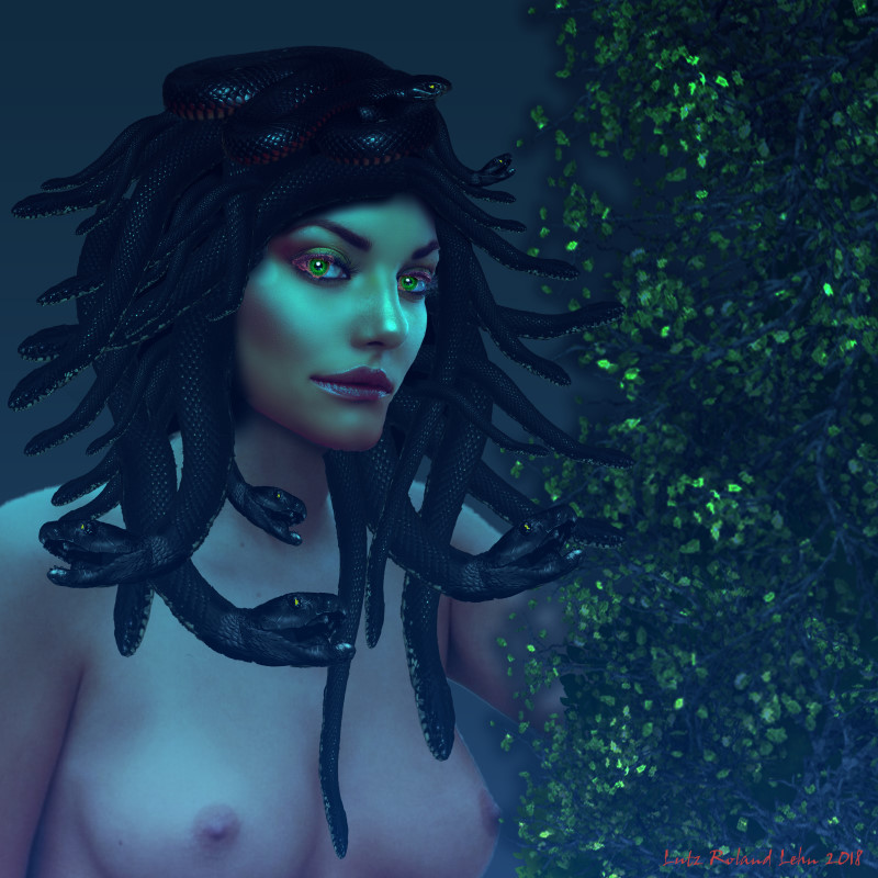 Green Eyed Medusa