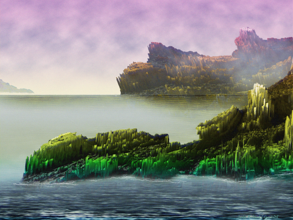 Utopia Islands – Painting by Lutz Roland Lehn