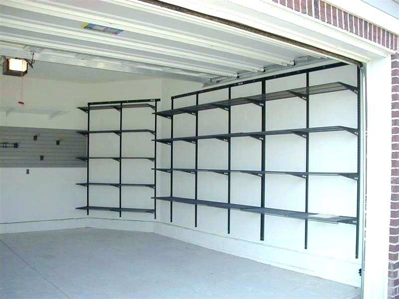 garage wall mounted shelving