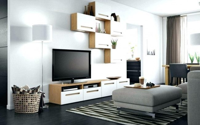 furniture under wall mounted tv