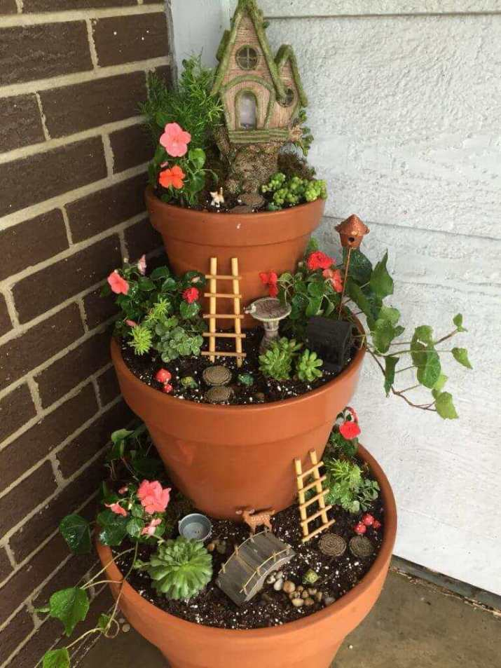 decorative flower pot for front door