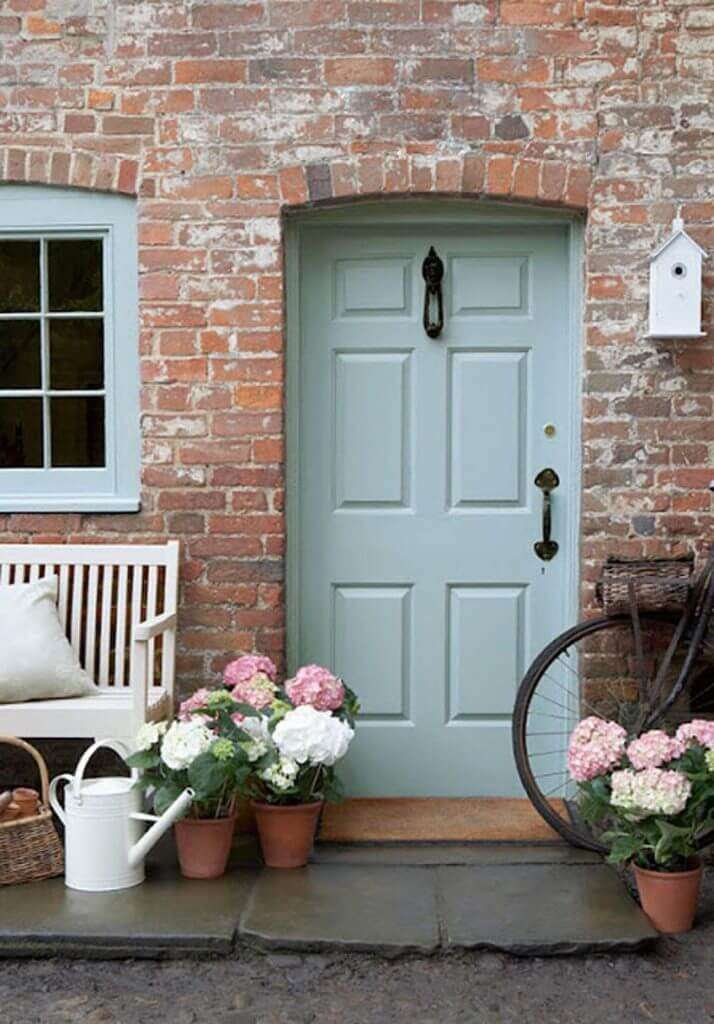 large flower pots for front door