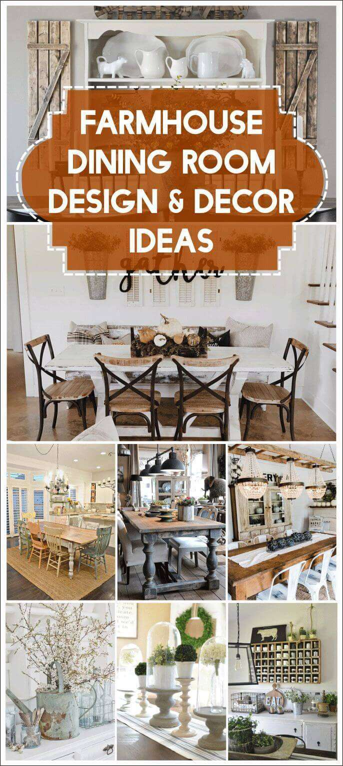 farmhouse dining room table with bench