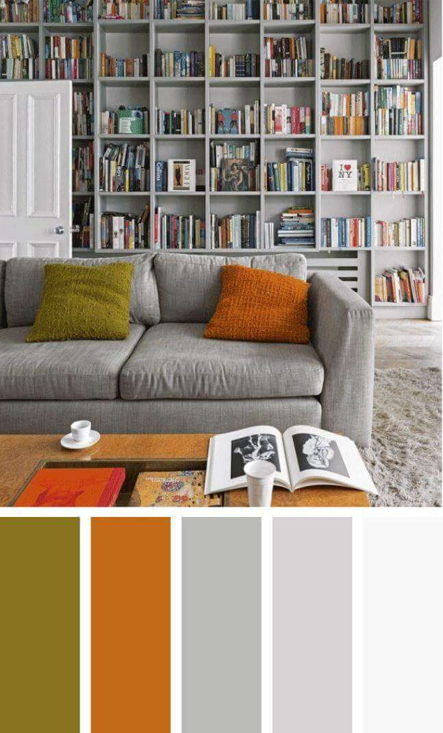 blue color schemes for living room