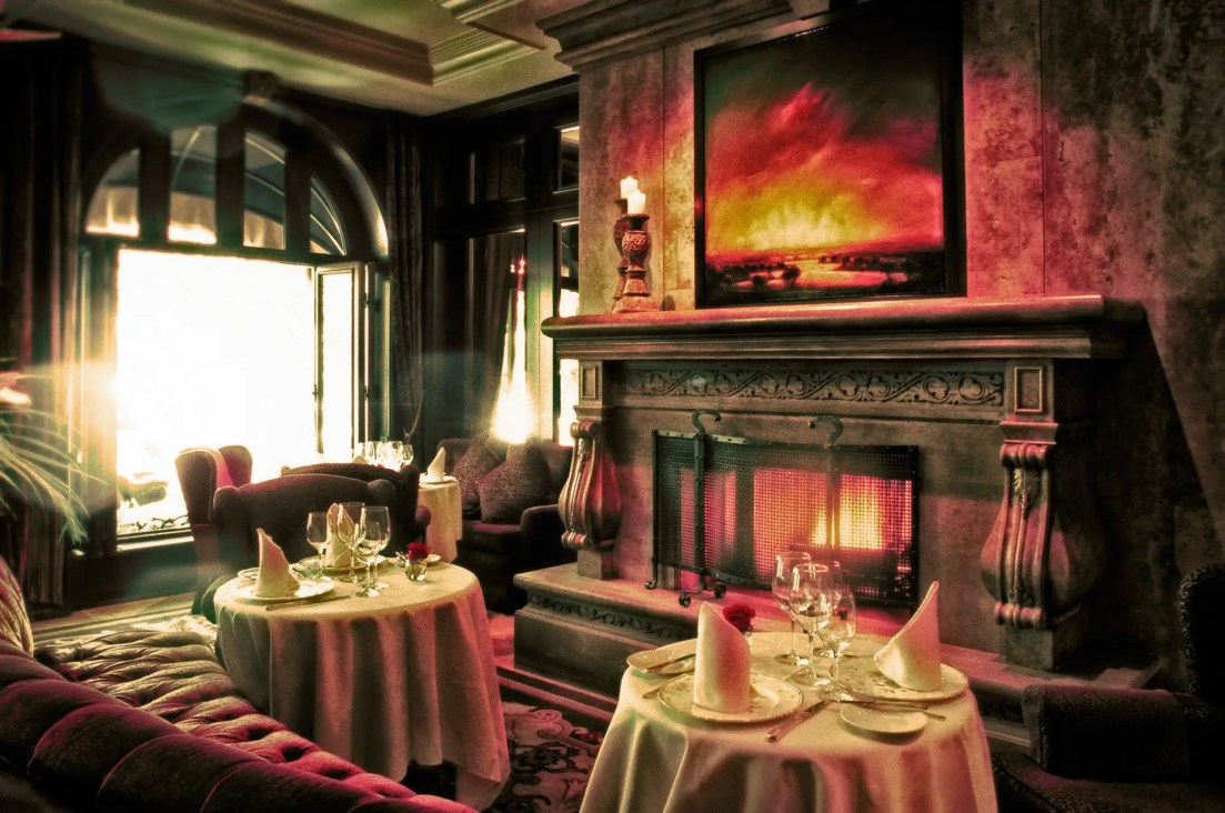 Continental Airlines Inflight magazine editorial assignment photography of Bacchus Restaurant in Wedgewood Hotel and Spa in Vancouver