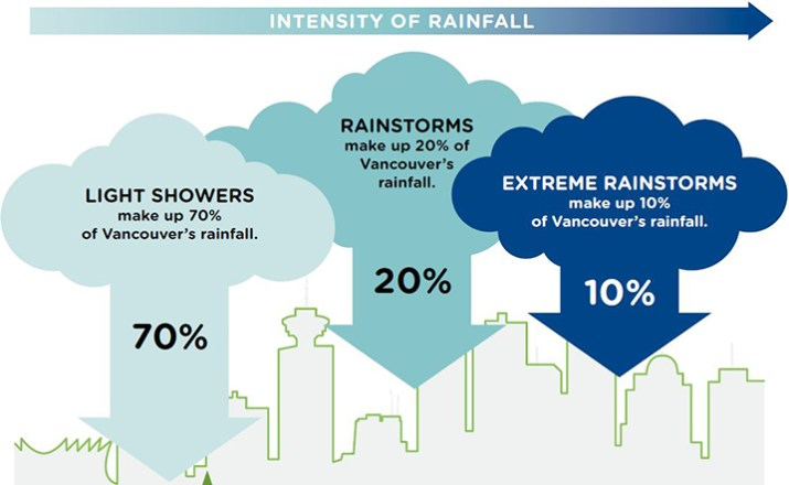 Blue infrastructure has the ability to increase the resiliency of a city by reducing the impact of extreme rainstorms on existing infrastructure.