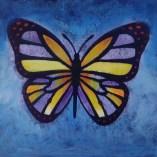 butterfly wine paint