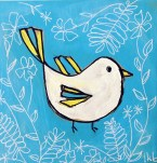 Stamp and Paint Bird
