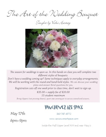 wedding bouquet flyer