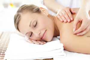 woman receiving acupuncture as a chiropractor alternative
