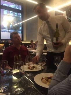 Our drunk waiter