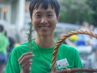 An image of Joey Liu, farmer and community programmer for Gordon Neighbourhood House