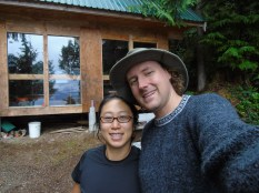 Bryan and I at Fairview Bay hut