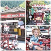 weekend getaway Quad Cycling in Harrison Hot Springs Collage