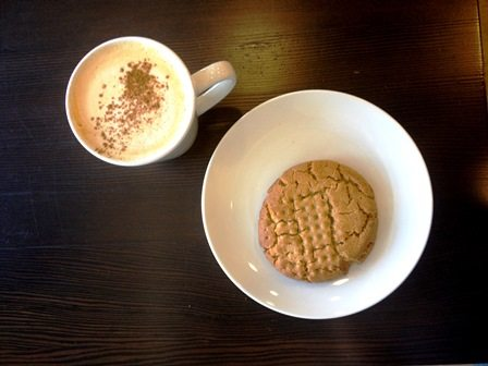 Peanut butter cookie and dirty chai last crumb cafe