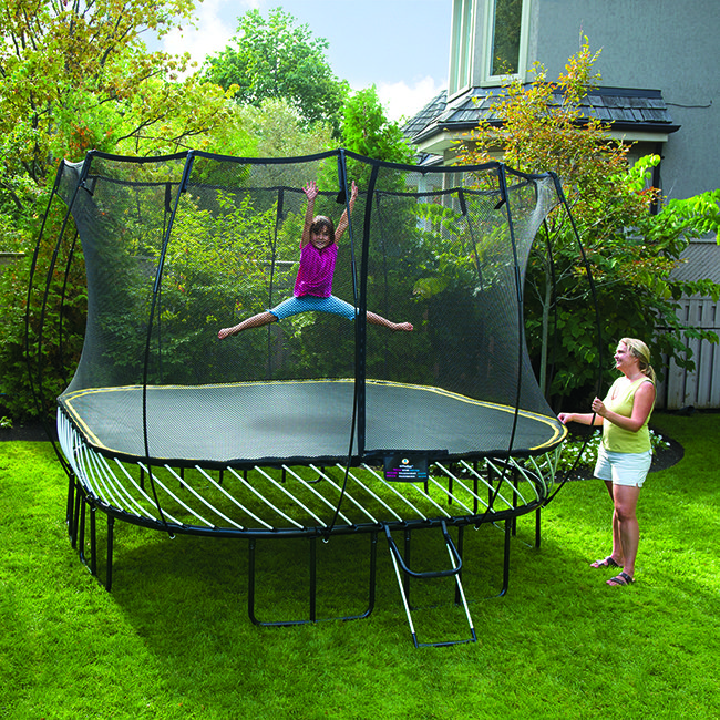 Four easy ways to get fit on a trampoline