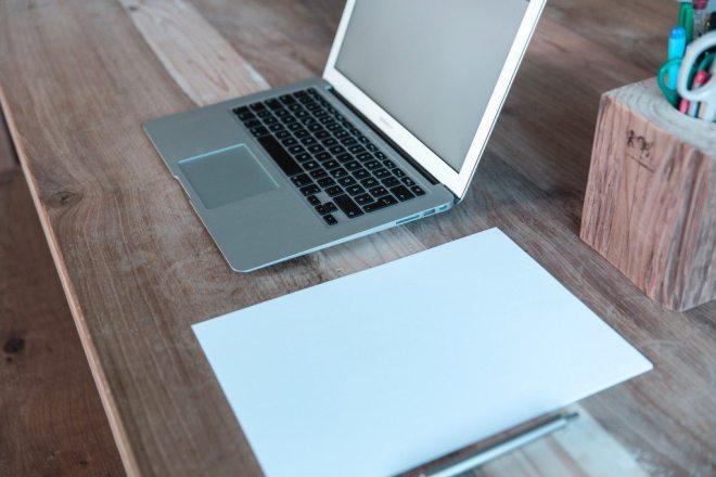 empty laptop