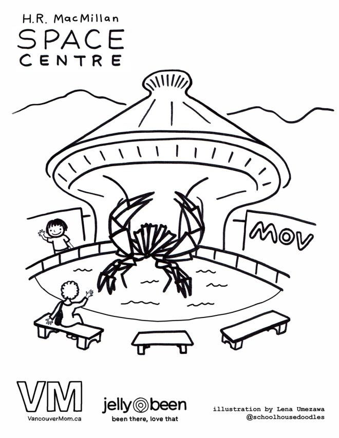 HR McMillan Space Centre and MOV - Vancouver Colouring Pages