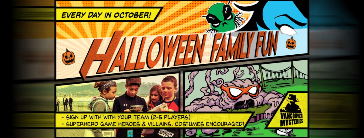 vancouver halloween family events poster october 1 - 31 2020