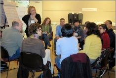 Discussion group at April 2011 Sustainable City of Sustainable Neighbourhoods symposium.