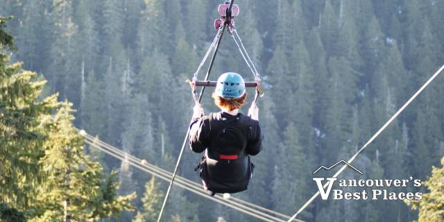 Ziplining at Grouse Mountain