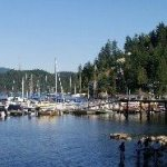 View of the water at Deep Cove in North Vancouver