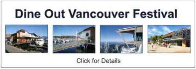 Dine Out Vancouver Festival Restaurants