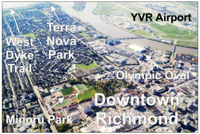 Downtown Richmond Aerial View Map
