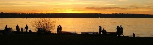 Sunset along English Bay (between Stanley Park and False Creek)