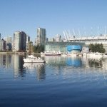 Vancouver from the False Creek seawall near the Olympic Village