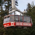 Close up of the gondola at Grouse Mountain