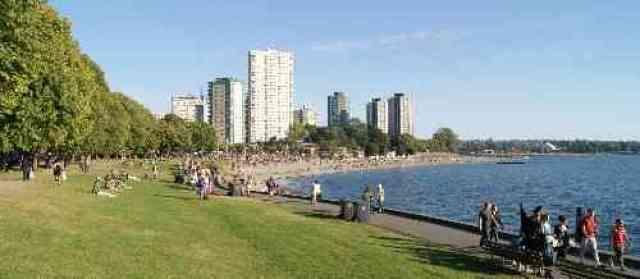 Lawns at English Bay Beach